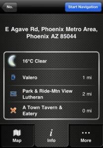 iPhone navigation app