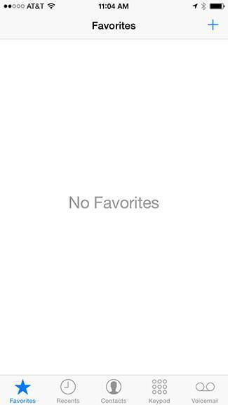 No favorites