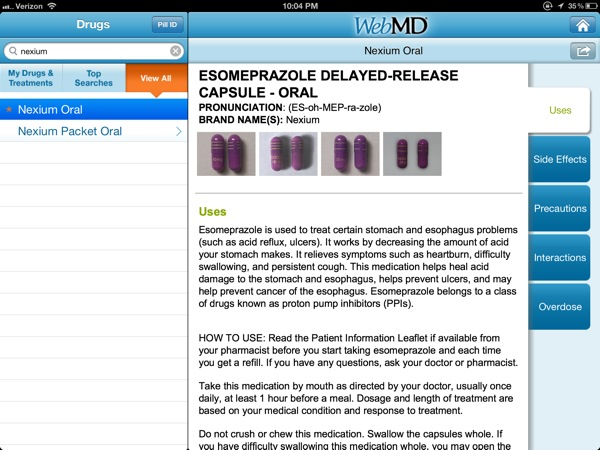 webMD drugs and treatments