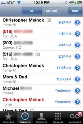 Recent calls