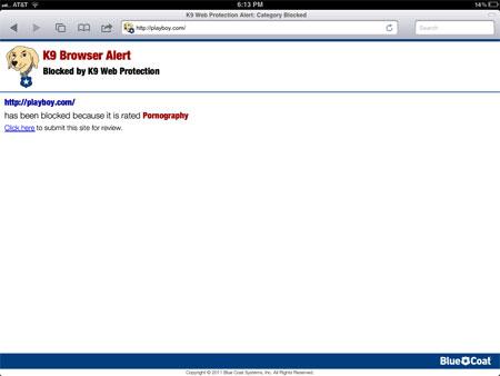 Restricted websites