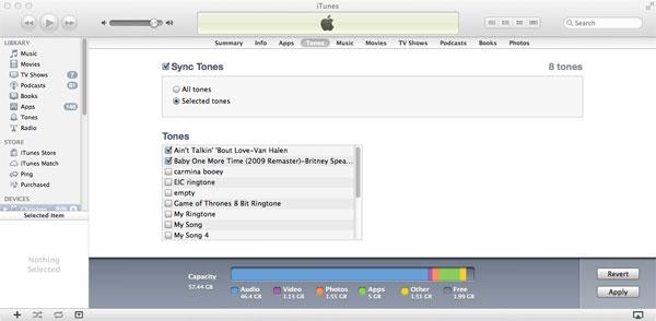 Sync ringtones iPhone