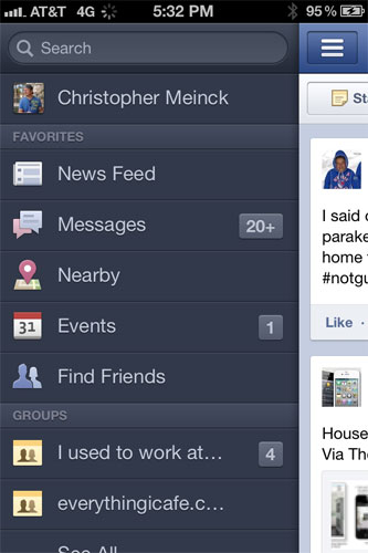 how to add favorites on facebook iphone app