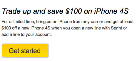 Sprint iPhone 4S trade-in