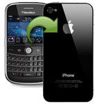 Transfer contacts BlackBerry iPhone