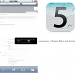 iOS 5 choose file