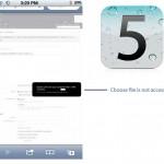 iOS 5 choose file