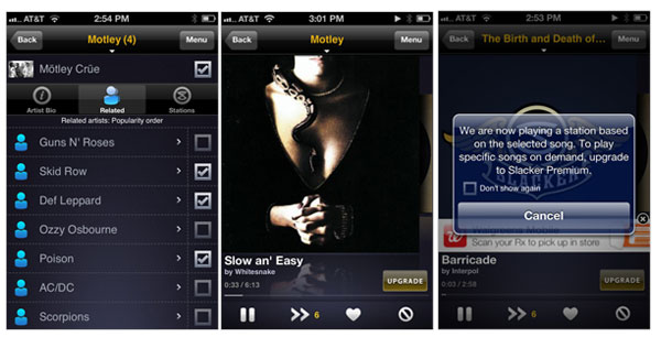 Slacker Radio iPhone