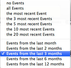 Sync events