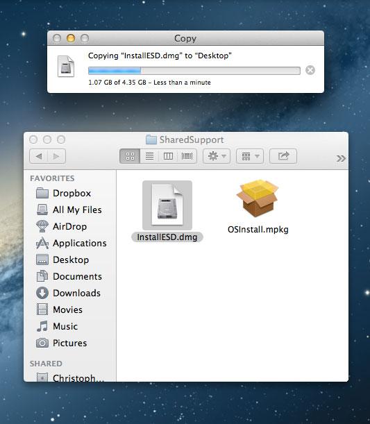 Copy InstallESD.dmg to desktop