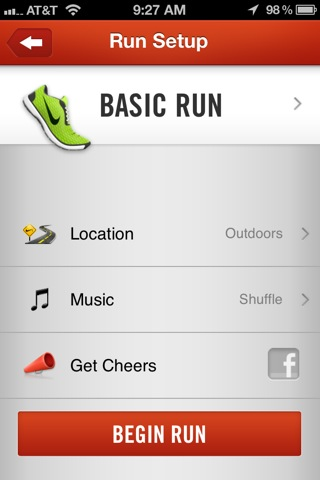 running app iphone