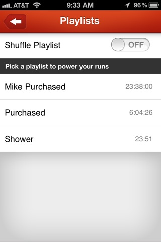 playlists for run