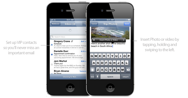 Mail in iOS 6