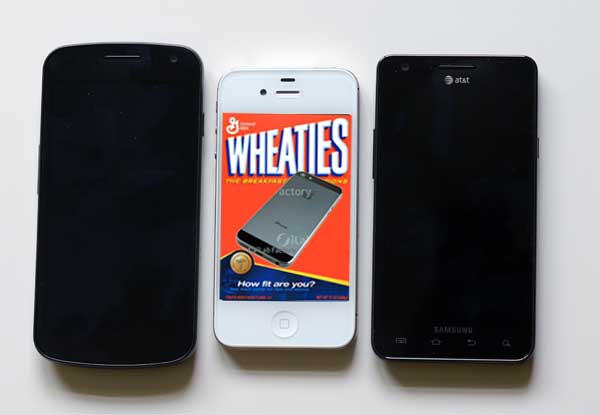 iPhone vs giant phones