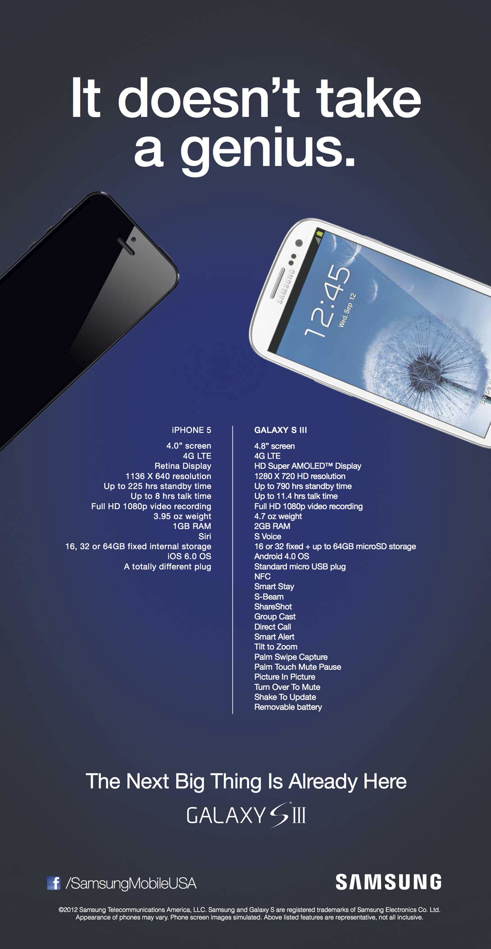 Samsung's Genius Attack Ad On iPhone 5