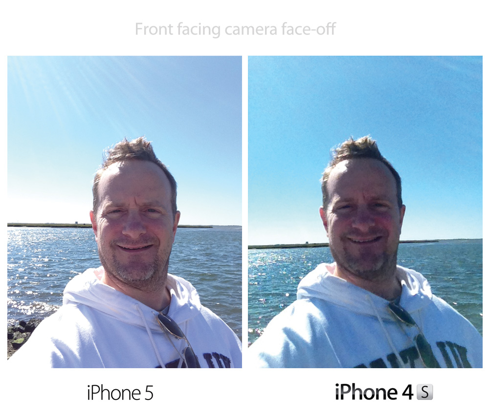 Comparing front facing camera iPhone 4S vs iPhone 5
