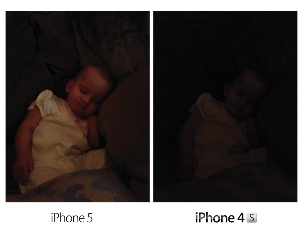 Camera on iPhone 5 low light