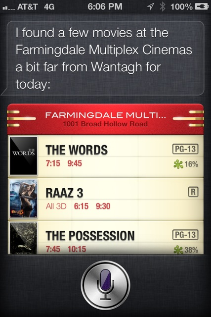 Siri movies iOS 6