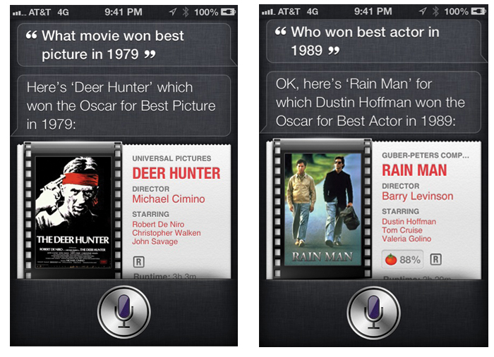 Siri Oscar Winners