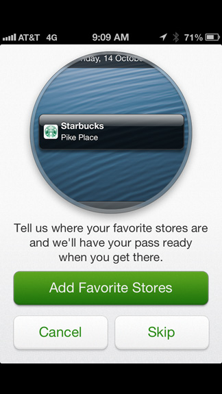 Add favorite stores
