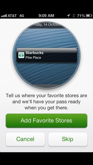 Add favorite stores
