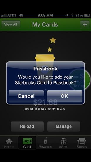 Use Passbook iOS