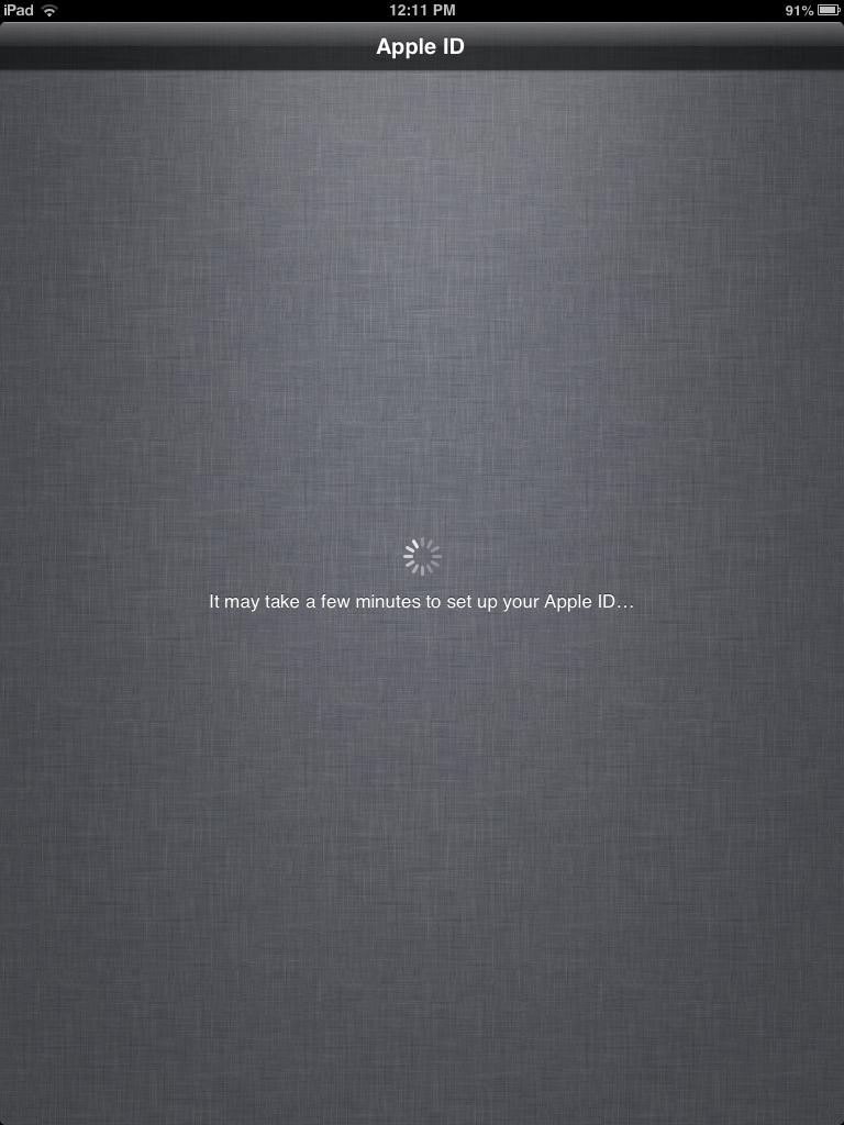 iPad activate