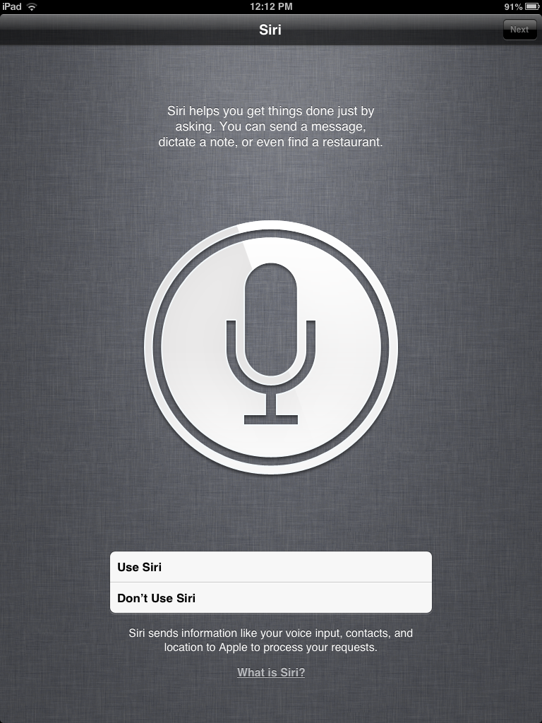 iPad siri setup