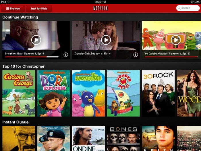 Netflix for iPad mini