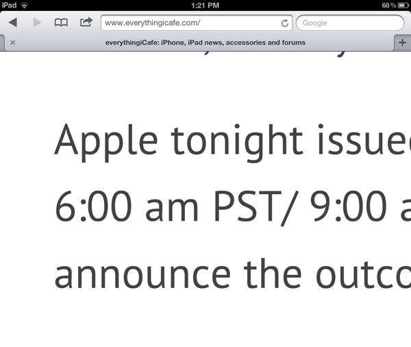 Type on new iPad