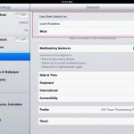 lock screen orientation iPad