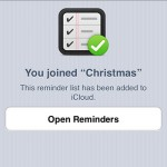 share a reminders list in iCloud