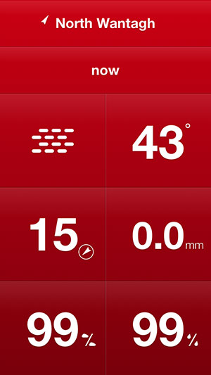 Weathercube Gesture weather app iPhone