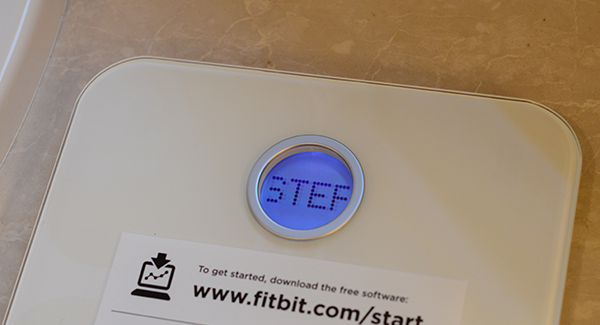 Fitbit Aria scale read out