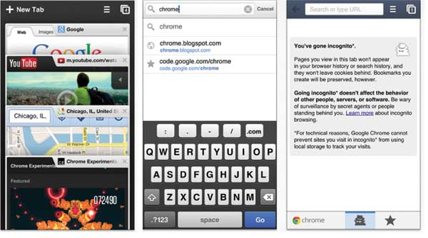 Chrome Browser on iPhone