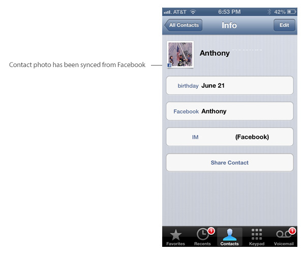 ... will check for new contacts who might not be synced to your iPhone