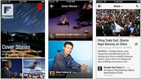 Flipboard on iPhone