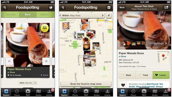 Foodspotting on iPhone