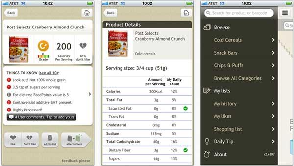 Fooducate on iPhone