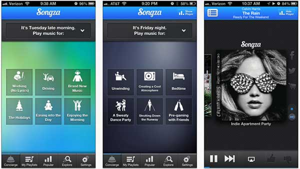 Songza on iPhone