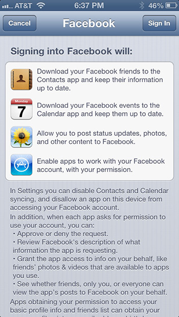 sync facebook contacts