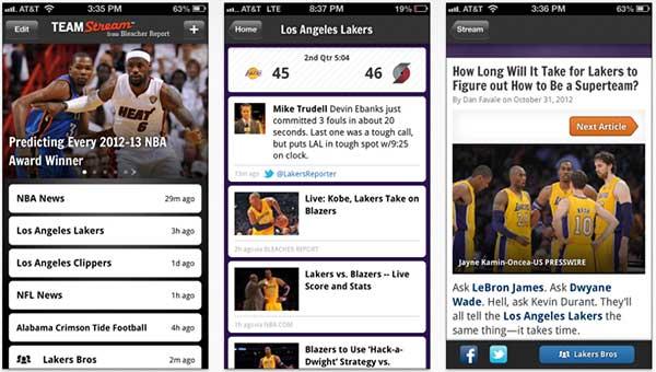 Teamstream on iPhone