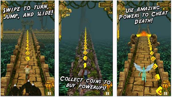 Temple Run on iPhone