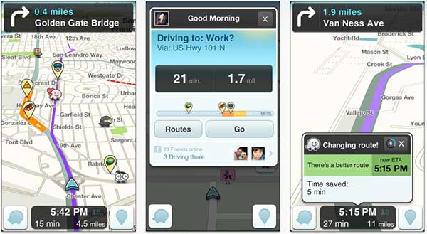 Waze on iPhone