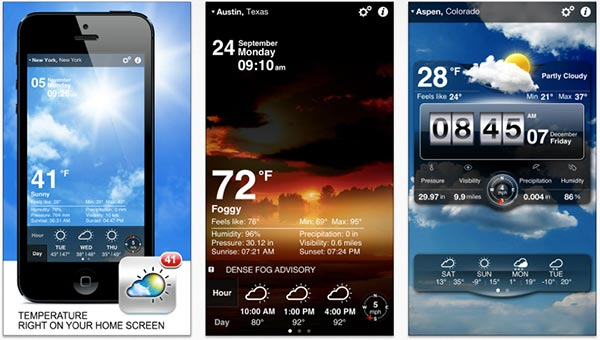 Weather on iPhone