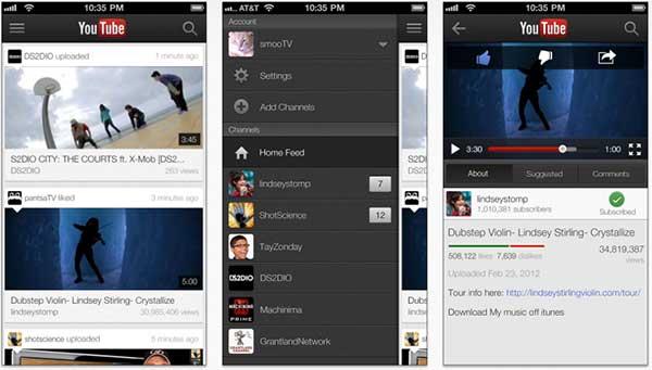 YouTube on iPhone