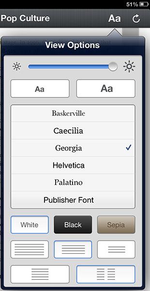 Change type on Kindle