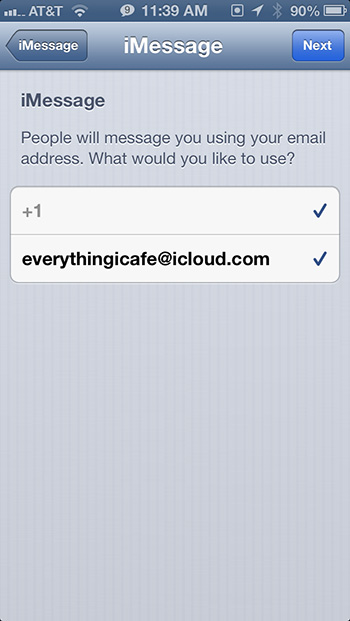 Configure iMessage Apple ID