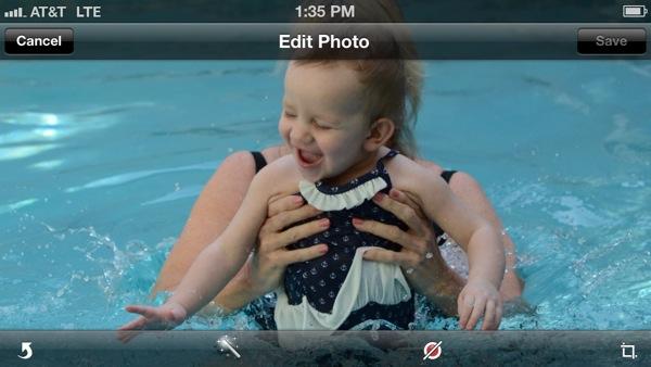 crop, edit, share photos iPhone