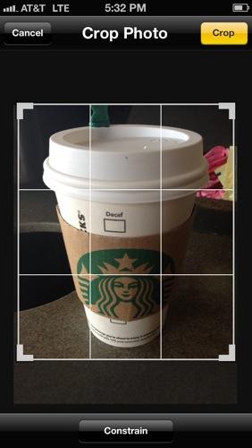 Crop photo iPhone